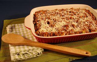 Zucchini, Eggplant etc hot dish
