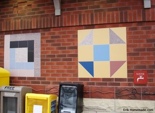 Quilt Blocks on Outside Wall