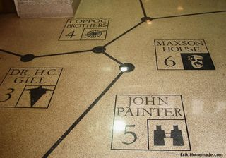 Map Mosaic on the Floor