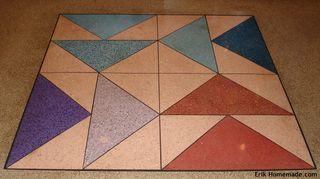Quilt Block on the Floor