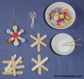 Button Snowflakes Project