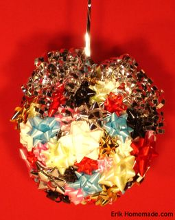 Recycled Bow Ornament