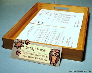 Scrap Paper Tray