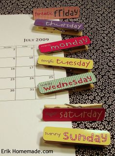 Clothespin Memo Clips photo