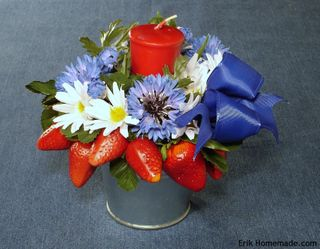 Red White and Blue Floral photo