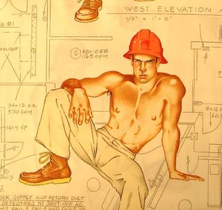 Construction Worker Pin-Up swatch