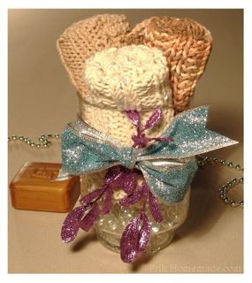 Knit Washcloth Gift photo - Copy