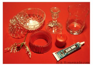 Glass Hurricane Candle Lamp project photo