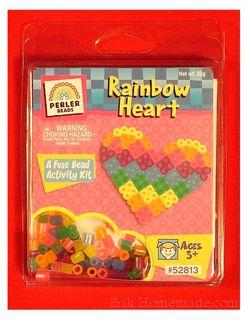 Perler Bead Rainbow Heart Kit photo