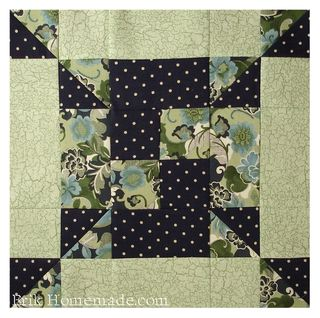 Irish Footprints Quilt Block photo