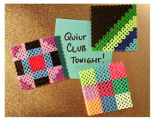 Amish Quilt Blocks Fuse Beads photo