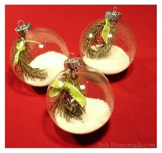 Snowy Globe Ornaments