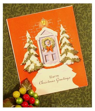 Vintage Christmas Card Greeting 2010
