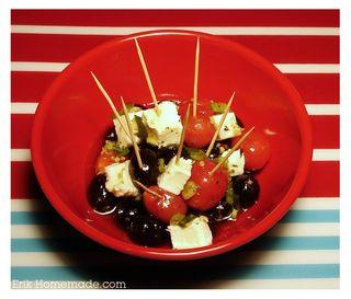 Marinated Tomatoes, Olives, and Mozzarella recipe photo
