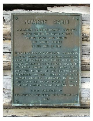 Navarre Cabin Plaque photo