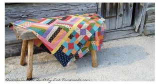 Our Susannah! Quilt on bench photo