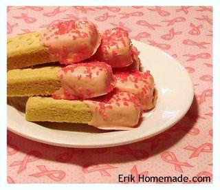 Pink Chocolate Shortbread photo