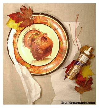 Paper Plate and Leaf Wreath project photo