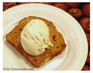 Castle Foods Pumpkin Poundcake with Ice Cream photo
