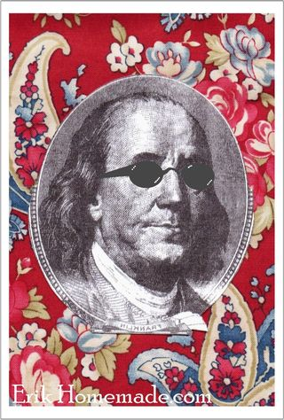 Benjamin Franklin Quilt vacation graphic