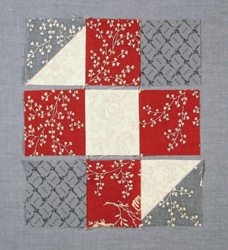 Sew each row together photo