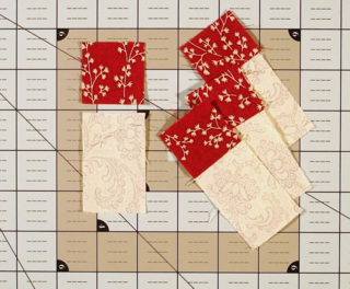 Sew Red Squares for C units photo
