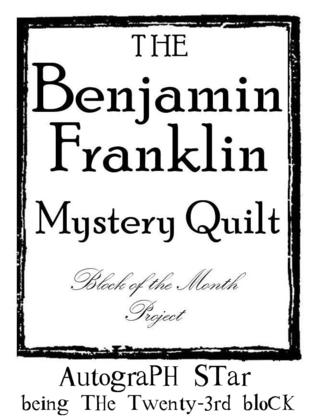 B Franklin Block Number graphic 23