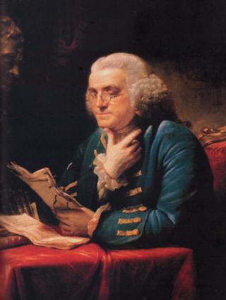 B Franklin Portrait photo