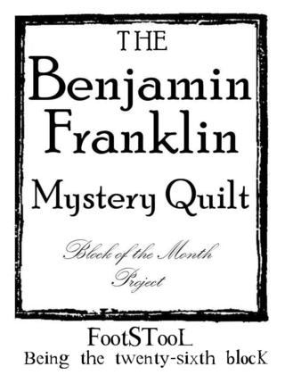 B Franklin Block Number graphic 26