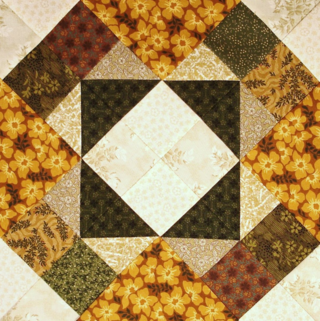 Tombstone Quilt block alternate colorway photo