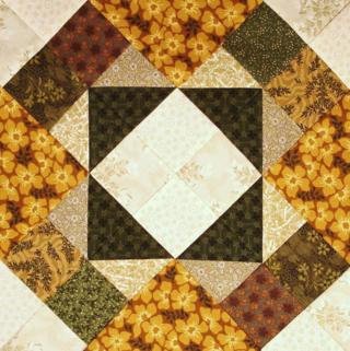 Tombstone Quilt block alternate colorway photo