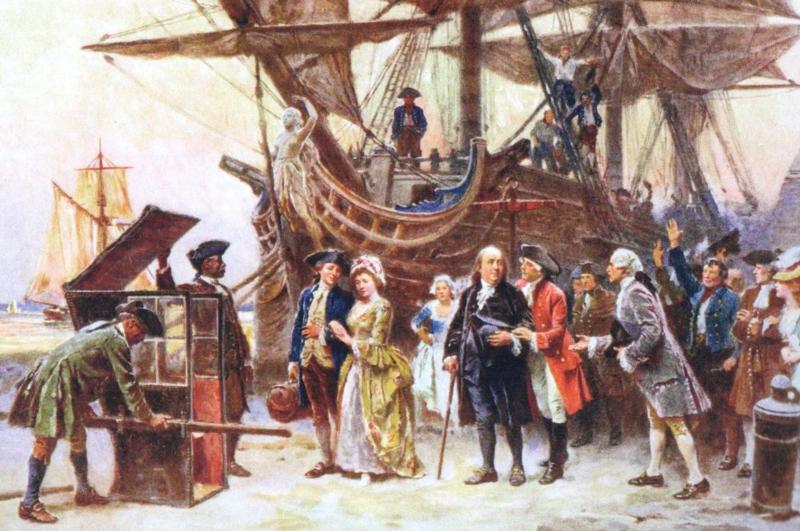 Franklin's Return to Philadelphia painting