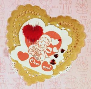 Vintage Valentine Card Back photo