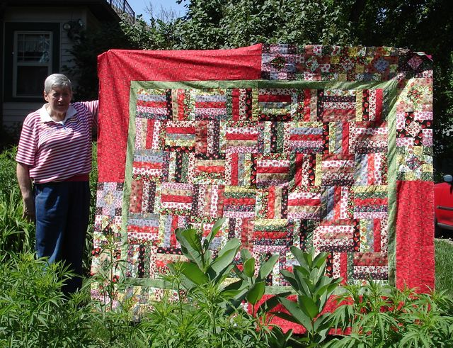 Mom and her Susannah! Quilt