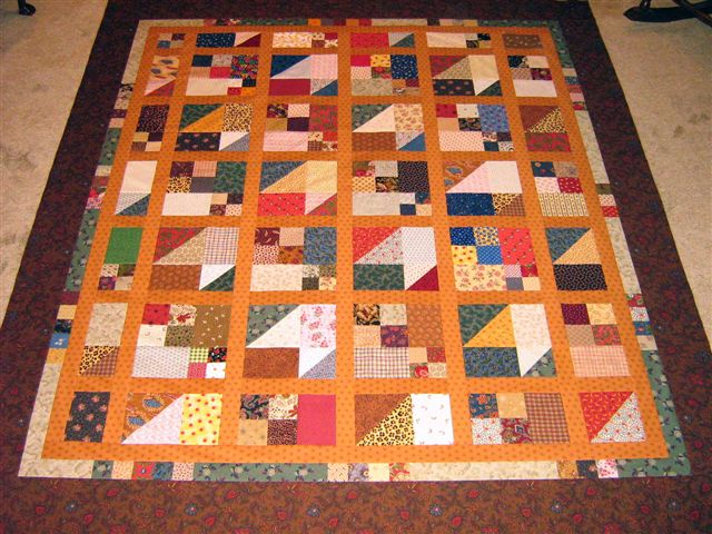 Wanda's (from Texas) Scrap Pile Mystery Quilt